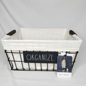 NEW Rae Dunn ORGANIZE Wire Storage Basket